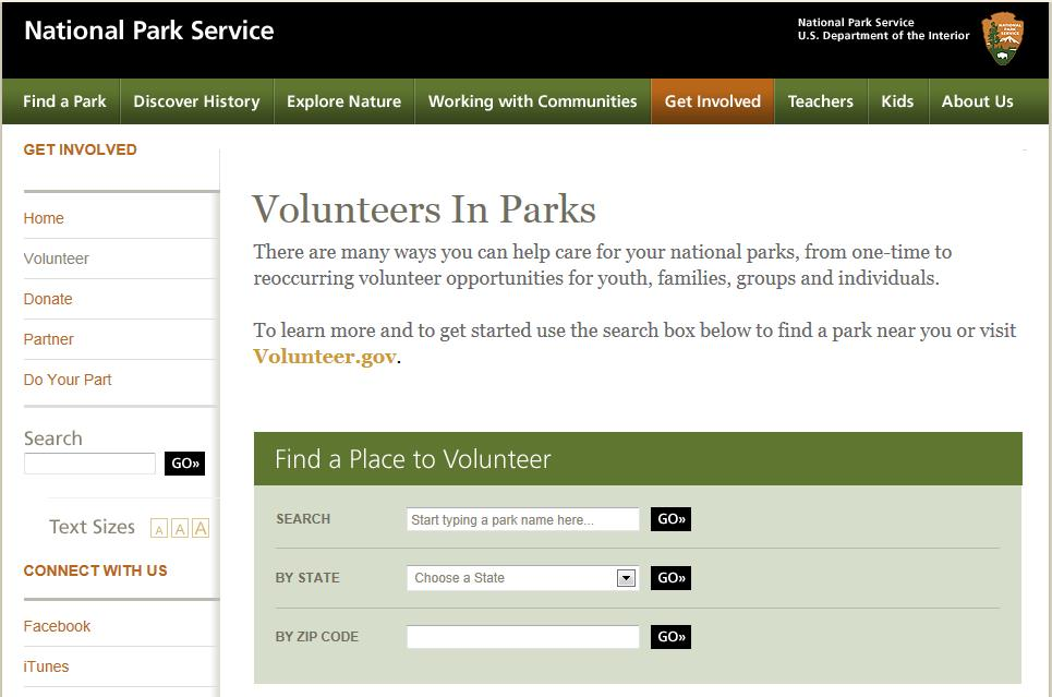 Volunteer at Parks